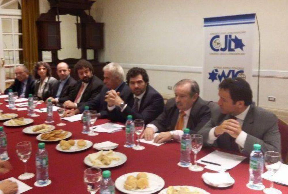 El Congreso Judío Latinoamericano recibió al candidato presidencial De La Sota
