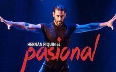 Hernán Piquín en los festejos por el aniversario de Salliqueló
