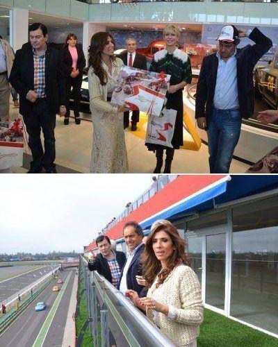 La Gobernadora y el Gobernador Scioli recorrieron el museo del Autodromo y el Hotel Termas Uno