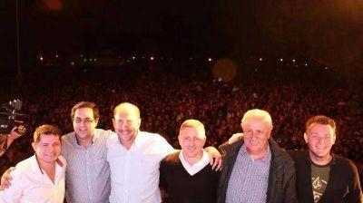Multitudinario acto de Omar Perotti en Reconquista
