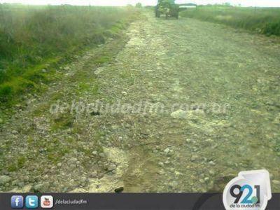 Reclaman por el mal estado de los caminos rurales en la zona de la Colonia Nueva