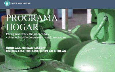 Desde mañana se podrán comprar garrafas a precio diferencial con el plan H.O.G.A.R.