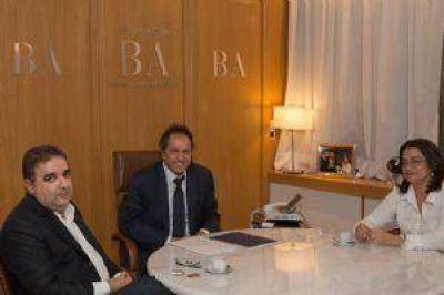 Scioli se reunió con Corpacci y Jalil