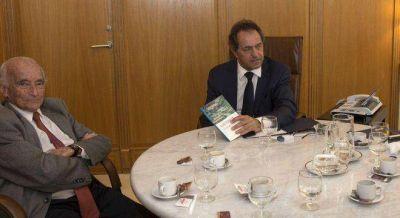 Scioli se mostr� con Ferrer, un cr�tico moderado de las pol�ticas de Kicillof