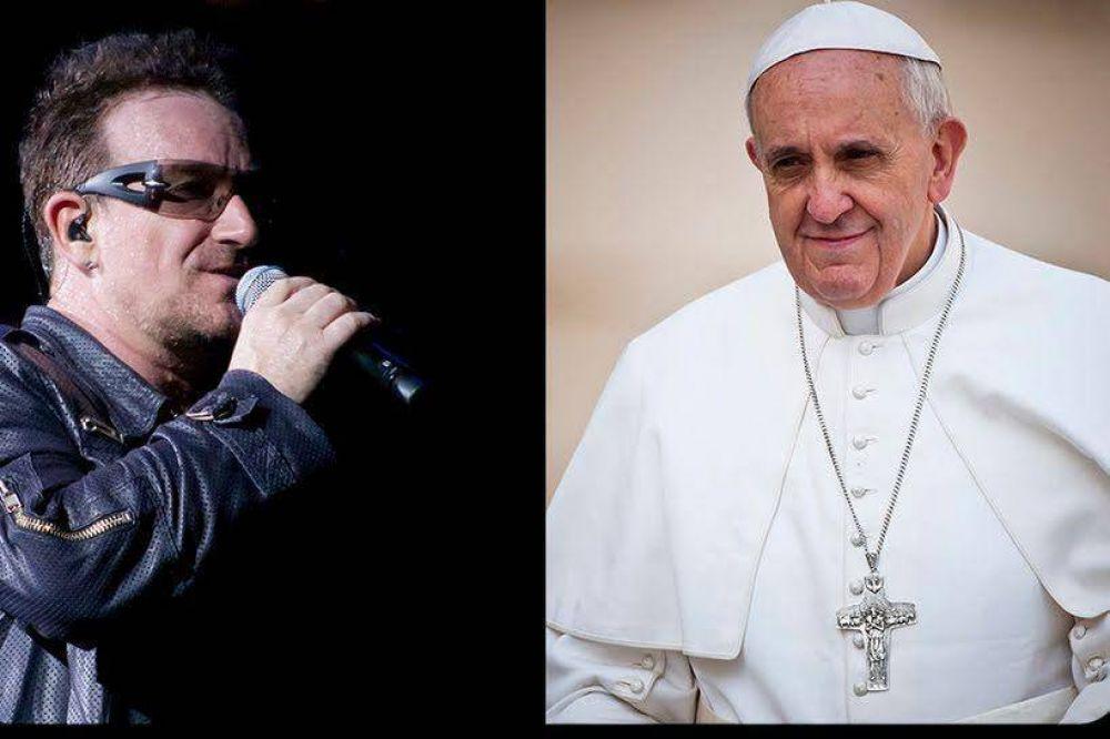 """Bono: """"Escuchen al Papa Francisco y acabaremos con la corrupción y el hambre"""""""