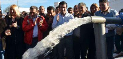 Beder Herrera inauguró el acueducto Olta-Chañar