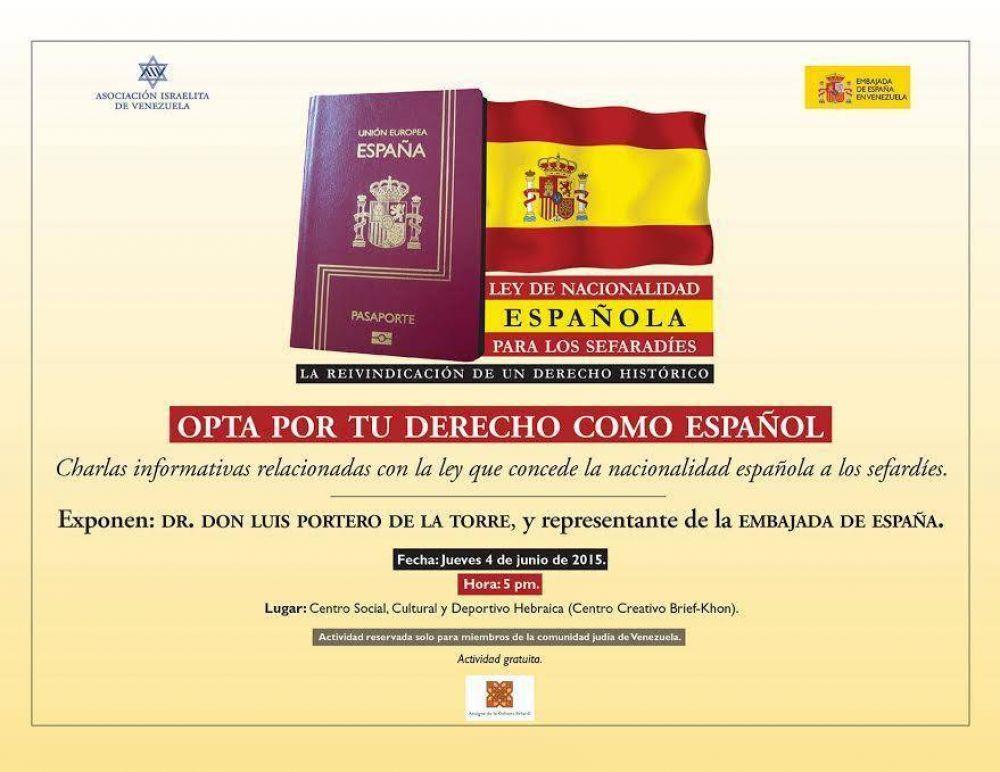 Venezuela realizará una charla informativa sobre la Ley de nacionalidad española a los sefardíes
