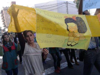 Manifestación de docentes municipales