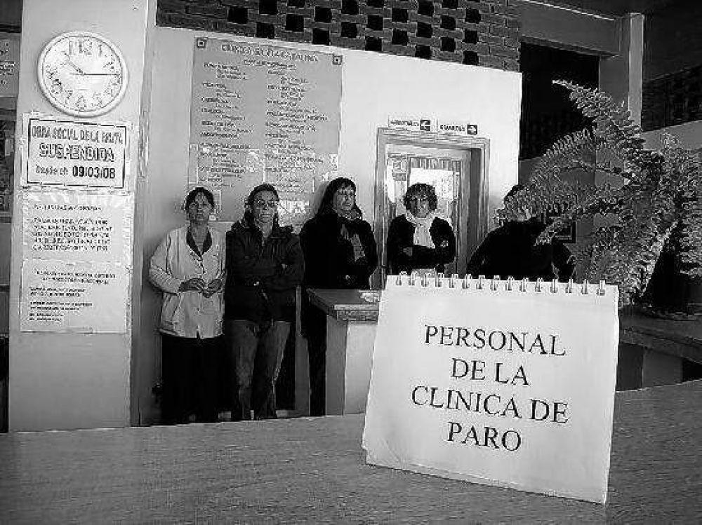 Después de un paro, empleados de una clínica de Allen pudieron cobrar