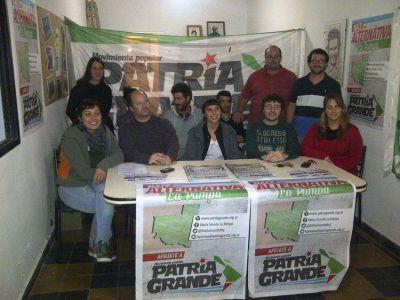 Patria Grande presentó sus candidatos en Santa Rosa