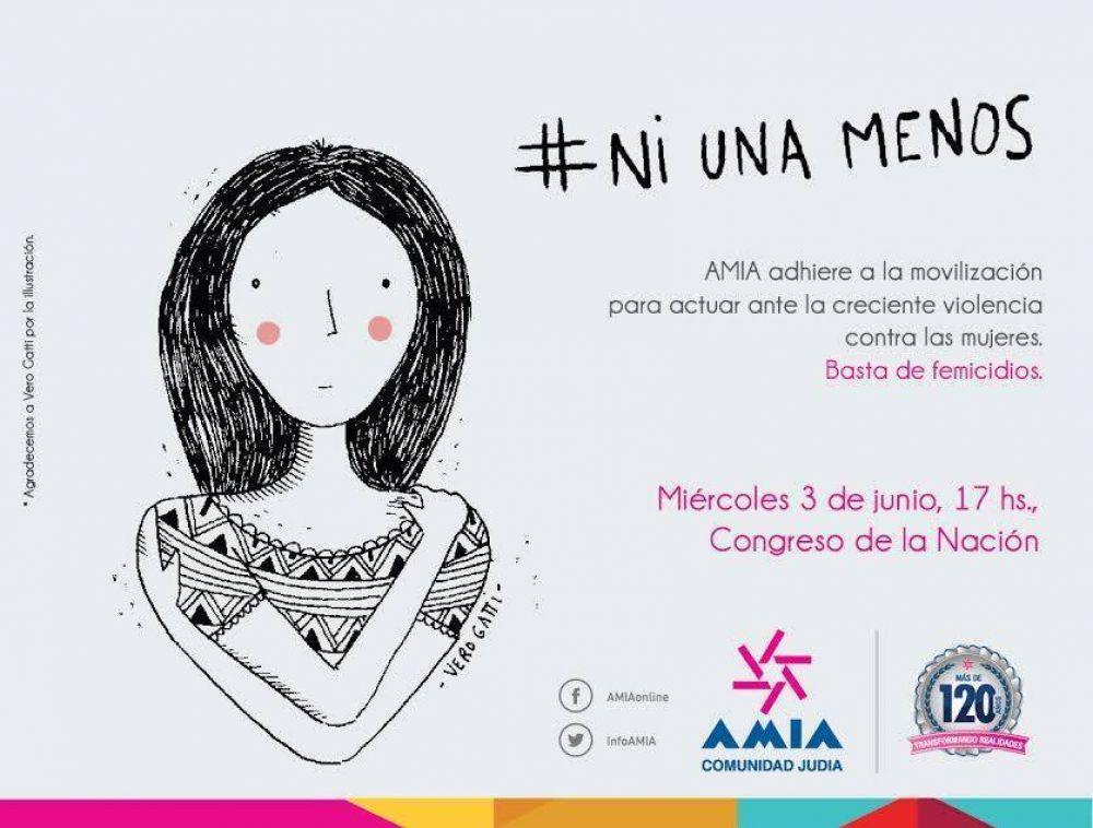 NiUnaMenos: AMIA adhiere a la concentración de mañana en el Congreso