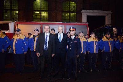 Julián Domínguez Participó junto a Sergio Berni de la cena por el Día del Bombero Voluntario