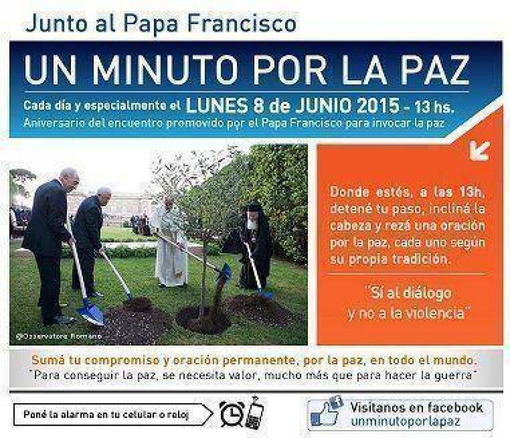 #UnMinutoPorLaPAz Junto al Papa Francisco