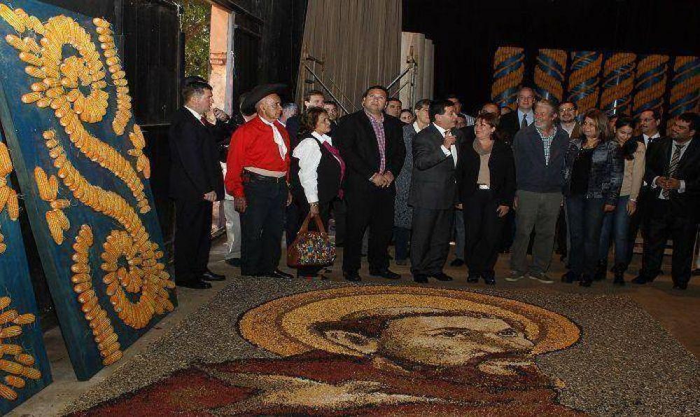 Presidente Cartes visitó sitio de construcción del altar papal