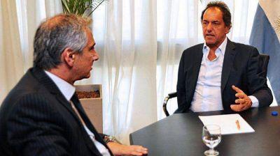 Scioli mantuvo un encuentro con Eseverri, el último intendente que dejó el Frente Renovador