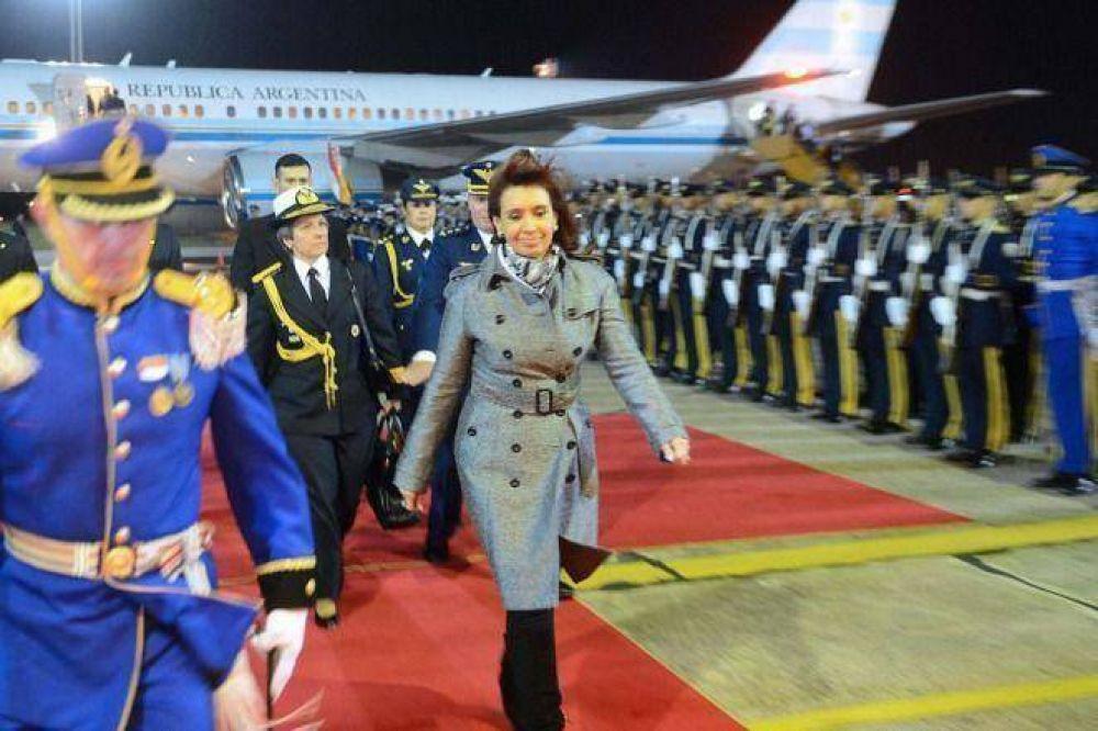 Cristina llega a Roma para entrevistarse con el Papa y participar en Cumbre de la FAO
