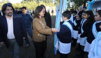 Lucía participó de los homenajes al General  Felipe Varela