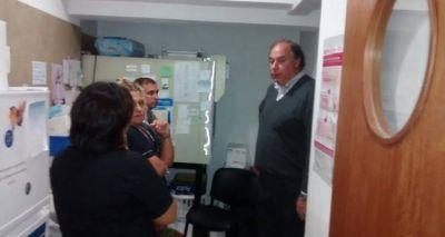 Barbieri recorri� el Hospital y dialog� con los trabajadores de cada servicio