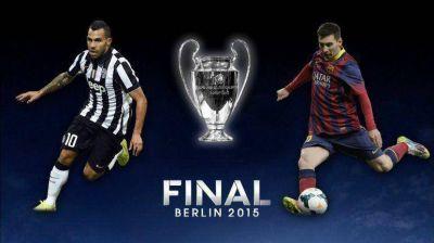 Messi y Tevez, cara a cara en la final de la Champions League entre Barcelona y Juventus