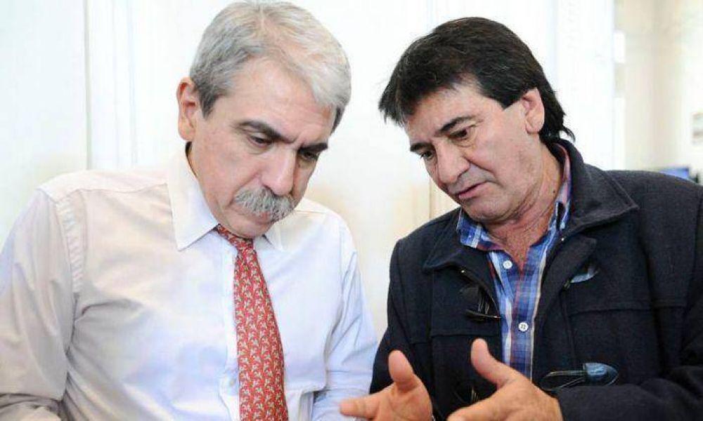 Pedro Fernández, junto integrantes de la Mesa Sindical Scioli 2015, se reunió con Aníbal Fernández
