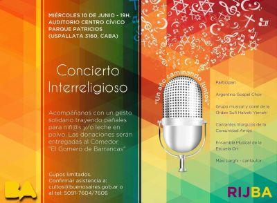 La Red Interreligiosa de J�venes de la Ciudad De Buenos Aires, festeja su primer aniversario con un concierto interreligioso y solidario.