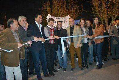 En la Rinconada fueron inauguradas obras de pavimentación