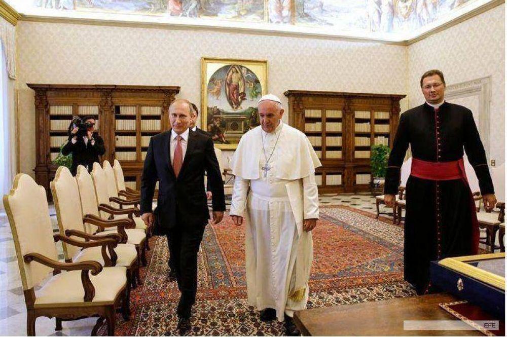 En una audiencia privada, Putin y el Papa y discutieron sobre Ucrania y la situación en Medio Oriente
