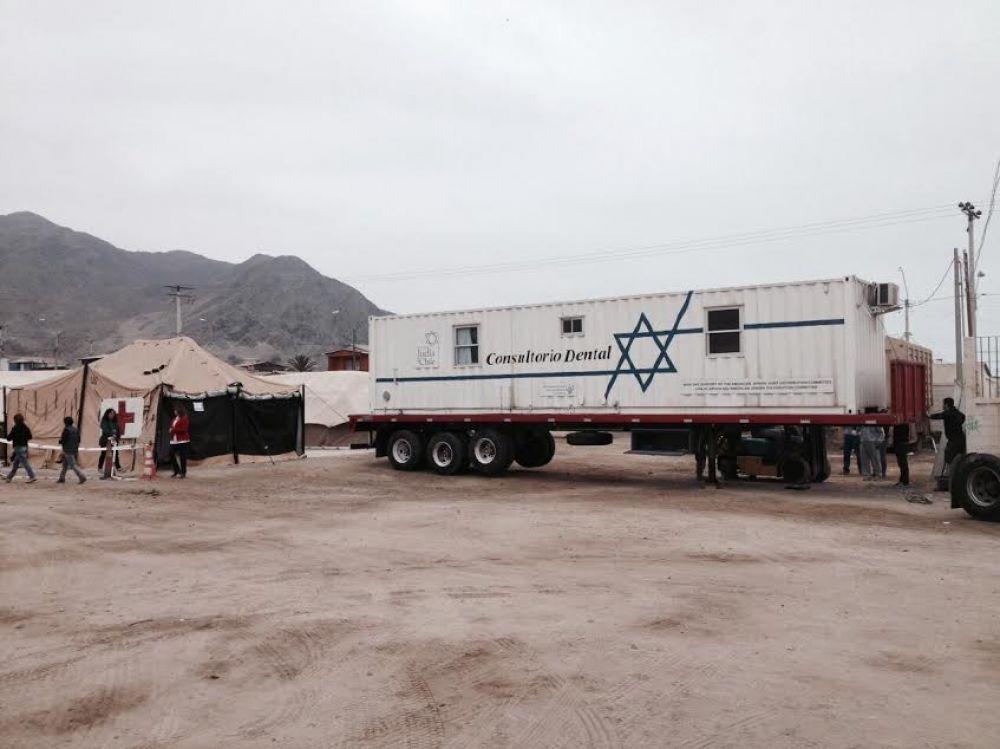 La Comunidad Judía de Chile envió un consultorio dental móvil a Chañaral, zona afectada por un temporal
