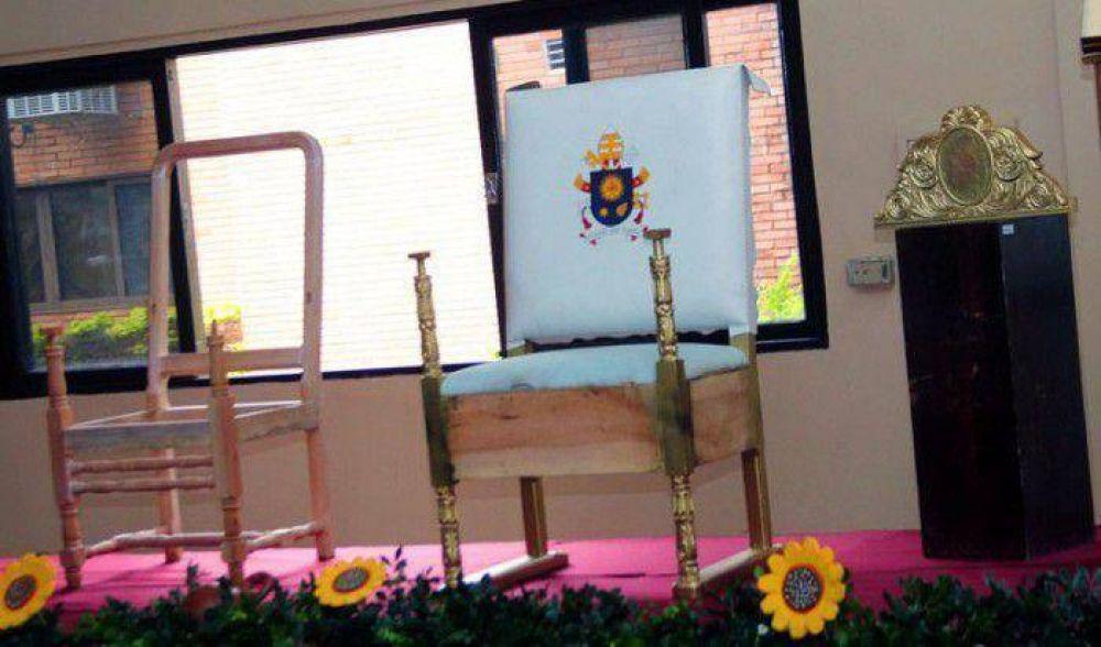 Ajustan detalles del sillón que usará el Papa Francisco