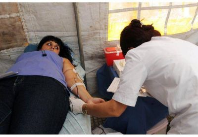 De 20.000 donaciones de sangre por año, el 24% son voluntarias