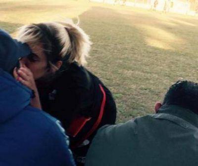 Maradona estuvo en Luján, acompañando a su novia