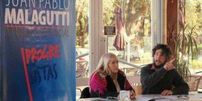 """Malagutti se lanzó a la diputación provincial: """"Voy a enfrentar a los aparatos del PJ y la UCR que pactaron con la derecha"""""""
