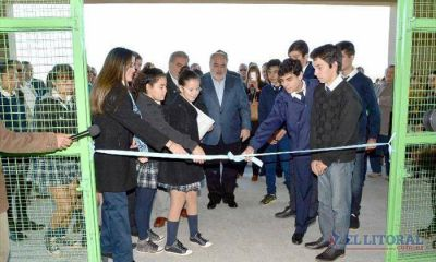 Con eje en la educación, Colombi sigue de campaña por el interior