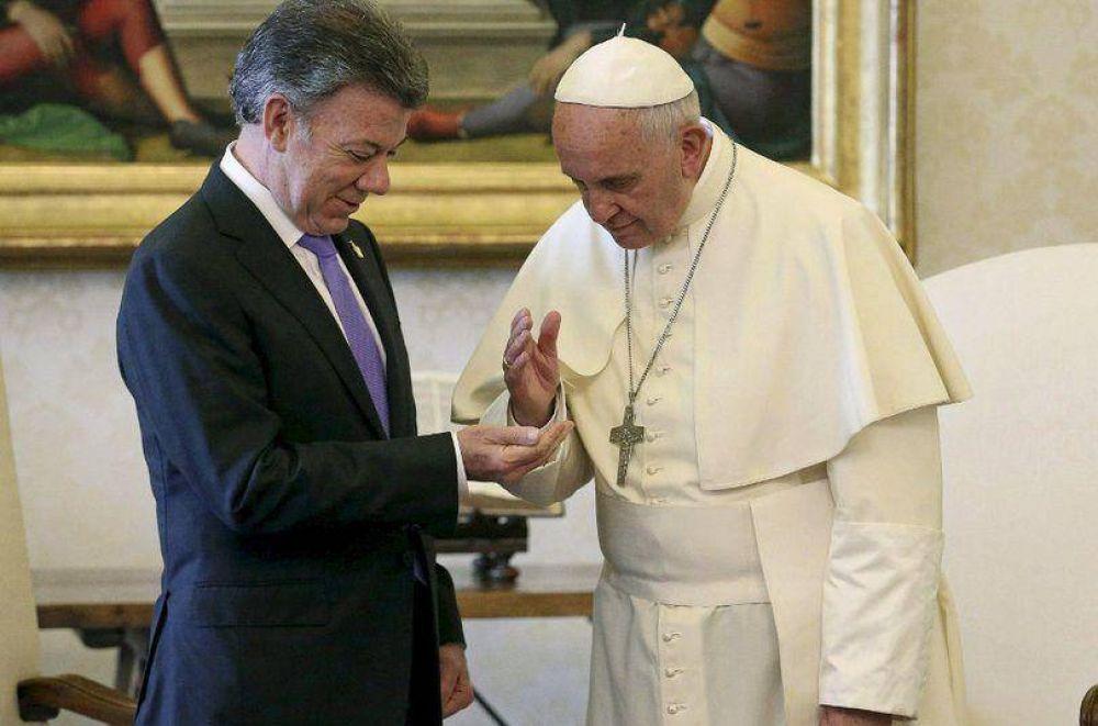 El Papa apoya el proceso de paz colombiano