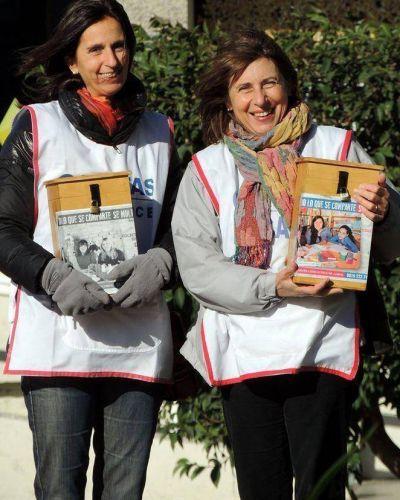 Cientos de voluntarios animaron la Colecta Anual de Cáritas
