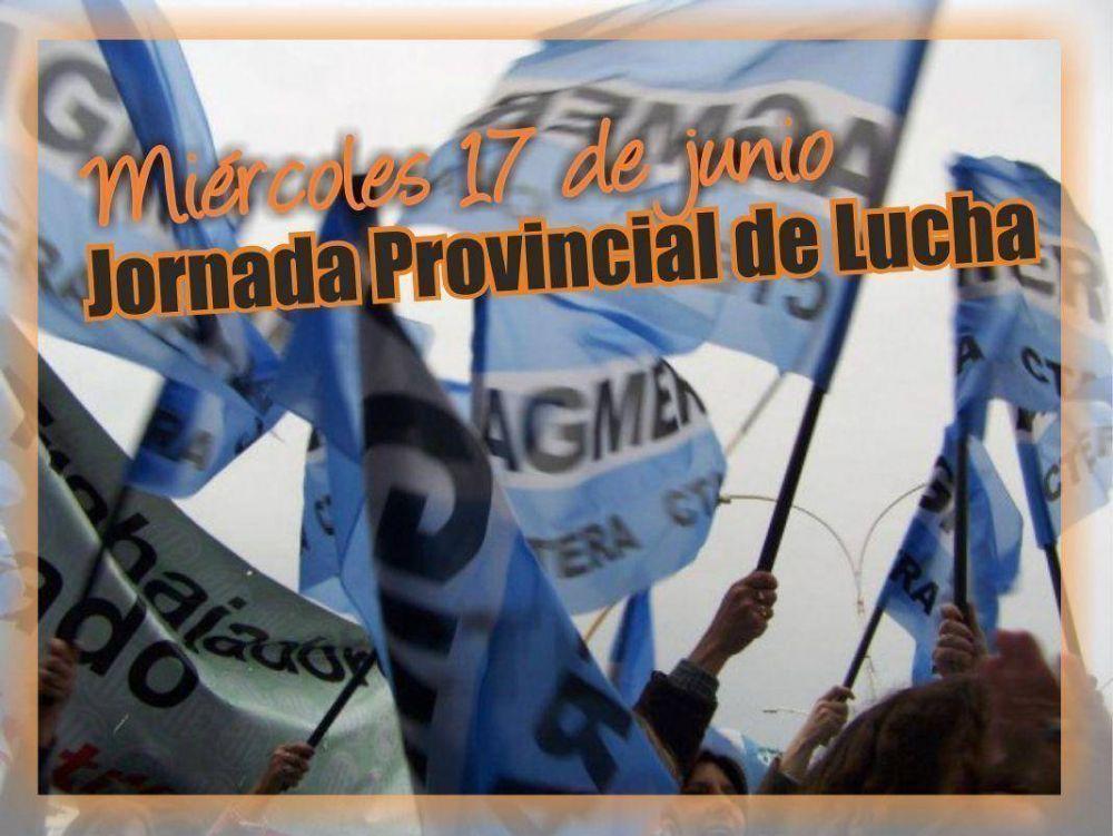 Este miércoles los docentes de Agmer realizarán asambleas de dos horas por turno en toda la provincia