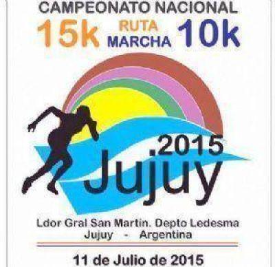 EN LEDESMA, JUJUY, EL 11 DE JULIO Catamarca en el Argentino Máster de 15km. de trote y 10km de marcha