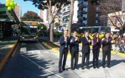 Macri inauguró el Metrobus en Vicente López y prometió extender la red hasta San Isidro