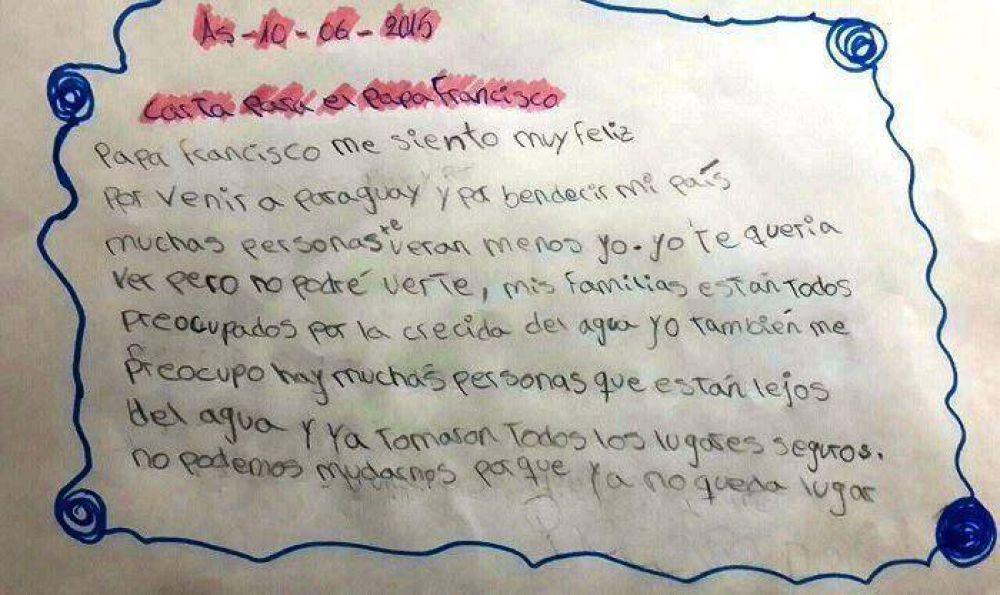 Niños escriben carta para el Papa Pancho