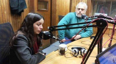 Candidatos en la radio: Noelia Barbeito y Héctor Fresina, del FIT
