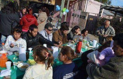 KOLINA de Tigre organizó un locro junto a Martín Gianella y los vecinos