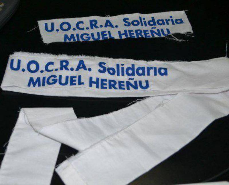 En el Hospital armaron cortinas con las sabanas donadas por la UOCRA
