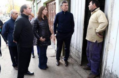 Macri encabezó su primera recorrida con Vidal y Salvador en Merlo