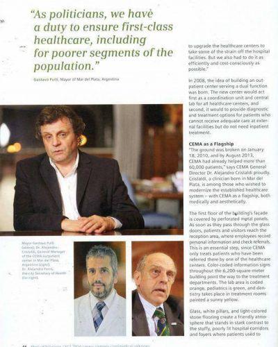 El CEMA fue reflejado en la publicaci�n anual de Siemens sobre soluciones m�dicas