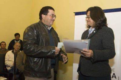 Lucía entregó fondos para la conservación de Bosques Nativos