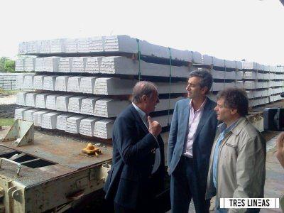 """""""Choque"""" entre Randazzo y empresa de durmientes marplatense"""