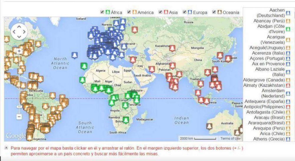 Fiesta de San Josemaría: un mapa interactivo muestra cientos de misas que se celebran en el mundo por su 40 aniversario