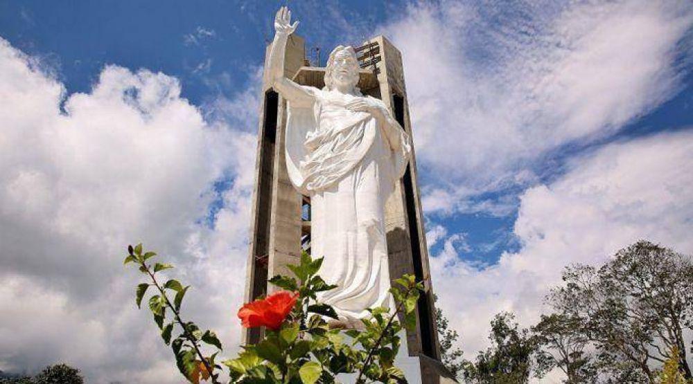 """Inauguran """"El Santísimo"""", la imagen de Cristo más alta de Colombia"""