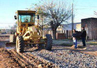 El municipio trabaja en la recomposición de calles con piedra