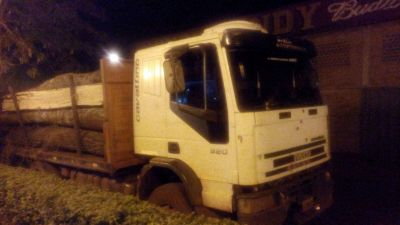 Secuestraron un camión cargado con madera nativa